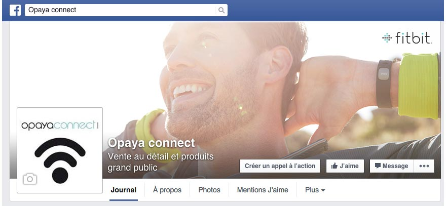 Profil Facebook - Opaya Connect