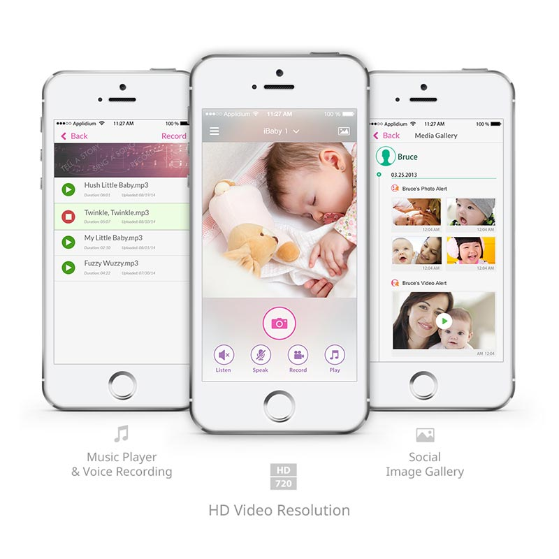 iBaby App-Screens